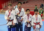Poomsae-Kader bei der Open International de Lille 2017